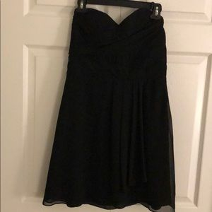 Express holiday little black party dress